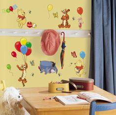 Winnie the Pooh - Pooh & Friends Peel & Stick Wall Decals Wall Decal at AllPosters.com
