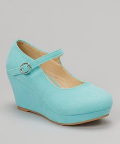 Another great find on #zulily! QQ Girl Mint Lovely Stitched Wedge Mary Jane by QQ Girl #zulilyfinds