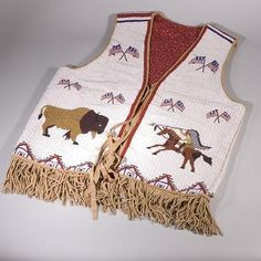 Northern Cheyenne Fully Beaded Vest, Sylvia Spotted Wolf