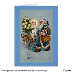 """""""Vintage French Christmas Card"""""""