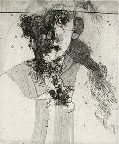 Robert E. Marx. Musings, 2007. Intaglio. Edition of 15. 7 x 5-3/4 inches.