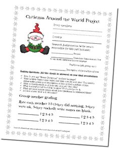 Christmas around the world group research