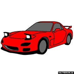 Mazda RX7 1992 coloring page