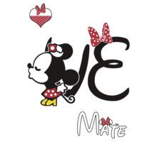 Minnie Kissing Mickey LOVE by daleos