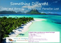 Cebu and Boracay... Philippines Paradise Lost 8 Nights from R21 990 per person sharing Valid for travel 11FEB-31MAR'16  Rates can change due to availability and rate of exchange  For bookings and updated quotes, please contact Pick A Holiday on 012 330 0095 | queries@pickaholiday.co.za