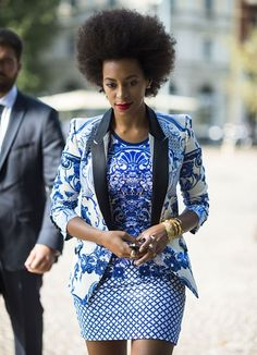 African Fashion - Perfect print style by Solange Knowles! African Attire, African Wear, African Women, African Dress, African Inspired Fashion, African Print Fashion, Africa Fashion, Ankara Fashion, African Prints