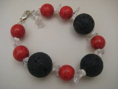 Check out this item in my Etsy shop https://www.etsy.com/listing/112194265/lava-stone-beaded-bracelet-red-beadwork