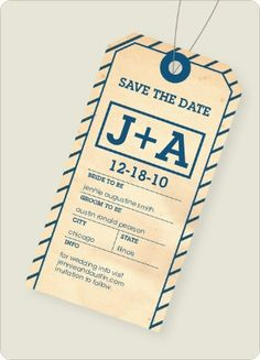 Perfect save the date for a destination wedding! // we (probably) won't have a destination wedding, but I love the layout and simplicity of this.