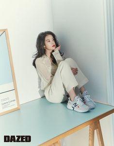 IU in Dazed and Confused Korea March 2019 Iu Fashion, Korean Fashion, Fashion Outfits, Fashion Design, New Balance Korea, Korean Photoshoot, Model Face, Foto Pose, Soyeon