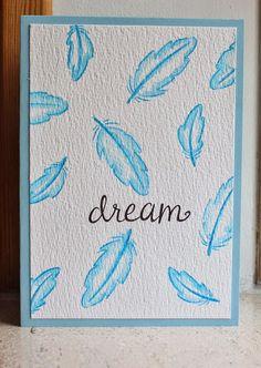 Hero arts stamp: Dream. Akvarel teknik.