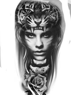 Wolf Tattoo Design, Forearm Tattoo Design, Tattoo Designs, Chicano Tattoos, Art Chicano, Tattoo Girls, Girl Face Tattoo, Native Tattoos, Eagle Tattoos