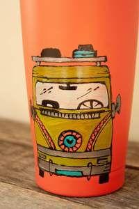 Tasse de voyage pour café thé, design Westfalia – Pero