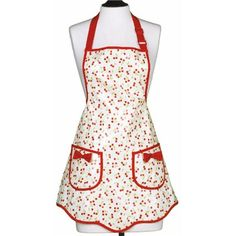 Jessie Steele Apron Ava Retro Cherries EVA Coated: Shop our Mother's Day Last-Minute Gift Boutique! #laylagrayce #giftboutique #mothersday $24.00