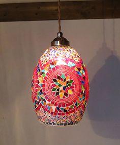 モザイクランプ・釣鐘型*店舗照明にも使える*トルコランプ/オリエンタルペンダントライト