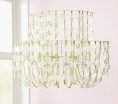 Pottery Barn Knock-Off Tutorial - Ribbon and Bird Chandelier - Makely School for Girls