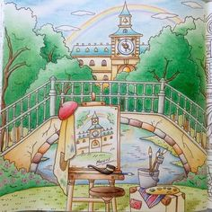 Romantic Country coloring book.