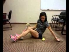 Piriformis syndrome. -Rolling a tennis ball to loosen piriformis muscle -  YouTube