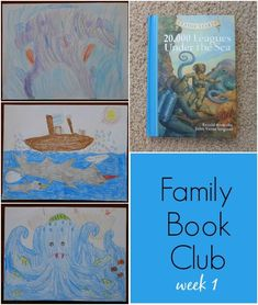 Family book club 20,000 Leagues Under the Sea #familybookclub #familynight #childrensbooks