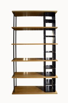 Modern Large wood and metal industrial bookshelf by Fabitecture