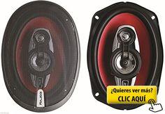JUEGO DE ALTAVOCES COAXIALES DE 4 VIAS 6X9' 375W... #altavoces #coche