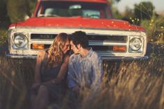 Country Engagement Photos Would be cute with the Mustang, especially if it's shot in a vintage, black-and-white way. This would be a sweet way to preserve memories of that wonderful car :)