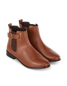 Poppy Buckle Chelsea Boot   Brown   Accessorize
