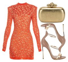 """""""street style"""" by sisaez ❤ liked on Polyvore featuring Balmain, Casadei and Alexander McQueen"""