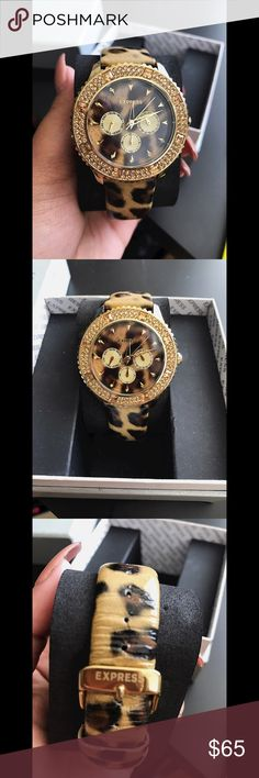 Express women's watch NO TRADES 🙅🏻 ALL REASONABLE OFFERS ARE ACCEPTED 😊👍🏽 NO LOWBALLERS!!! 😒✌🏽️✌🏽 LET'S BUNDLE!!!! 🎋🎉🎁🎊🎈 Express Accessories Watches
