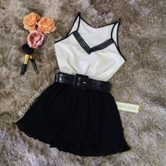 BLUSA  Alcinha Larissa( Cor Off White) Cute Summer Outfits, Girly Outfits, Skirt Outfits, Spring Outfits, Cool Outfits, Cute Fashion, Look Fashion, Girl Fashion, Fashion Outfits