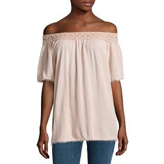 3a698f10328fa6 i jeans by Buffalo Crochet Off Shoulder Top JCPenney