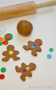 Gingerbread clay recipe- great for making ornaments and for play time, too!