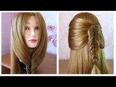 Tuto coiffure simple: queue de cheval originale ✨ fausse tresse épi de blé ✨ facile a faire - YouTube