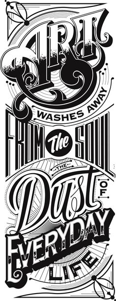 Cool Typography & Lettering Designs   From up North
