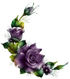 "Photo from album ""из роз"" on Yandex. Arte Floral, Motif Floral, Floral Border, Flower Frame, Flower Art, Rose Drawing Tattoo, Decoupage Vintage, Rose Art, Flower Wallpaper"