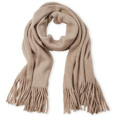 Steve Madden Fringe Wrap Scarf ($20) ❤ liked on Polyvore featuring accessories, scarves, brown, steve madden, brown scarves, fringe shawl, wrap shawl and steve-madden scarves
