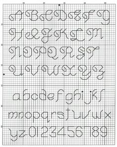 alphabet back stitch patterns Cross Stitch Letter Patterns, Cross Stitch Letters, Cross Stitch Borders, Cross Stitch Designs, Cross Stitching, Cross Stitch Embroidery, Stitch Patterns, Simple Cross Stitch, Cross Stitch Baby