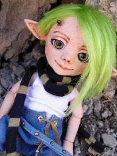 "Resin BJD doll author Faun ""Gray"" 16 cm, Full set, ball jointed doll, elf by BJDSvetaDolls on Etsy"
