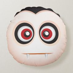 Shop Cute lil vampire emoji - I want to suck your blood Round Pillow created by emoji_pillows. Scatter Cushions, Throw Pillows, Cute Emoji, Halloween Pillows, Custom Cushions, Ghost Hunters, Round Pillow, Decorative Throws, Halloween Decorations