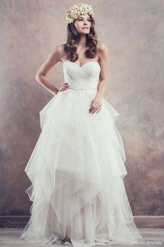 divine atelier 2014 strapless wedding dress amber