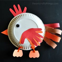 I HEART CRAFTY THINGS: Paper Plate Chicken Craft for Kids