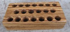 Zebrawood Test Tube Spice Rack with 20 Test Tubes от WoodenBliss