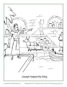 joseph pharaohs dreams coloring pages - photo#23