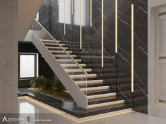 Staircase Design Modern, Staircase Railing Design, Home Stairs Design, Dream House Interior, Interior Stairs, Classic House Design, Modern House Design, Staircase Lighting Ideas, Stair Decor