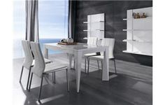MESA DE COMEDOR EXTENSIBLE. Mesa de comedor moderna lacada en blanco o negro brillo