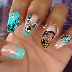 pocahontas nails  nailsssss  disney nails nails disney
