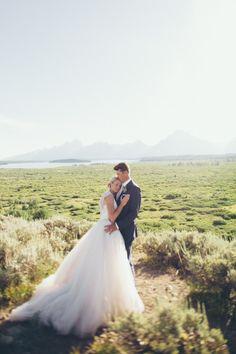 Breathtaking Mountain Wedding at Jackson Lake Lodge, WY