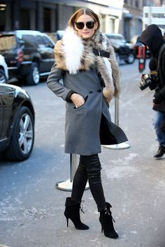 Olivia Palermo has proved herself as one of the globe's most sparkling street-style stars, and, as such, you turn to her for outfit ideas. The stylish New Yorker is sharing her current fall 2015 wish list with Vestiaire Collective and revealing tips for styling all her must-buys, offering up tips for casual events and the office. Get ready for a really fashionable season, ladies. Over-the-knee boots Palermo's a big fan of the statement shoes with or without heels, calling them super…