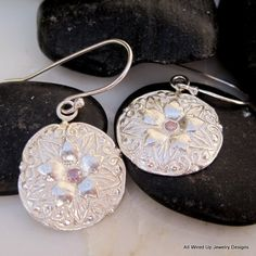 New romantic antique button earrings- makes me think Spring!