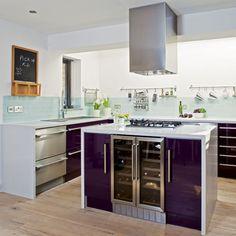 1000 images about kitchen stuff on pinterest purple for Aubergine kitchen cabinets