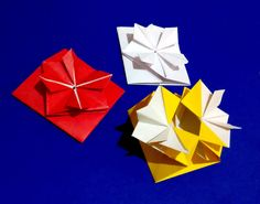 video tutorial: Pop-up Envelope with flower and secret message inside.  Origami Gift card